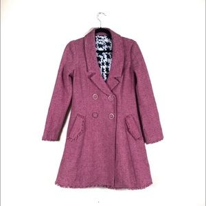 CAbi Pink Tweed Peacoat